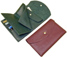 Ladies Leather Wallet W/Credit Card Slots