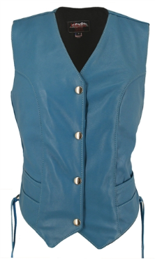 Turquoise Leather Vest