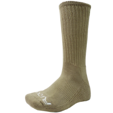 Ridge Men's Khaki Crew Socks Size 6-9