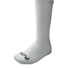 Ridge Men's White Crew Socks Size 6-9