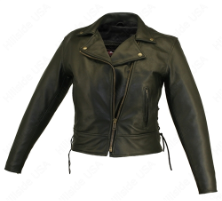 Beltless Leather Biker Jacket