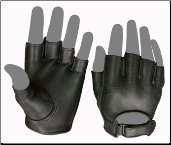 Classic Open Tip Vented Back Biker Gloves