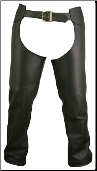 Double Stitched Leather Chaps