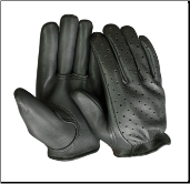 Classic Deerskin Short Wrist Ventilated Motorcycle Gloves