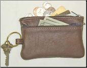 Leather Pouch with Keyring