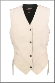 White Leather Vest