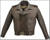 D Pocket Distress Brown Biker Jacket