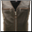 The Elite Motorcycle Leather Vest Black/Brown Braiding