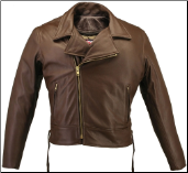 Beltless Brown Biker Jacket