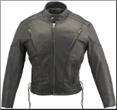 Vented Leather Jacket