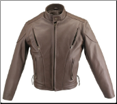 Brown Vented Leather Jacket