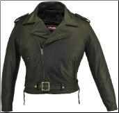 Fully Belted Biker Leather Jacket