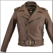 Fully Belted Brown Biker Leather Jacket