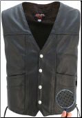 Men's Full Perforated Motorcycle Vest