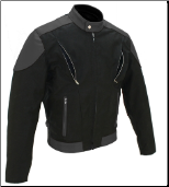 Vented Leather & Cordura Black On Black Motorcycle Jacket