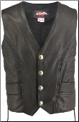 Men's Semi-Perforated Motorcycle Vest
