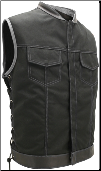 SOA Style Side Lace Black On Grey Cordura Vest