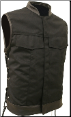 SOA Style Side Lace Black On Black Cordura Vest
