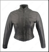 Shaped Motorcycle Leather Jacket