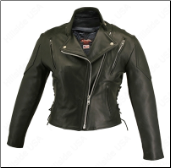 Leather Vented Biker Jacket