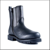 Ridge All Leather Side Zipper Boots