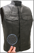 Men's Sons of the Anarchy Style Full Perforated Biker Vest