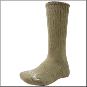 Ridge Men's Khaki Crew Socks Size 10-13