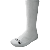 Ridge Men's White Crew Socks Size 10-13
