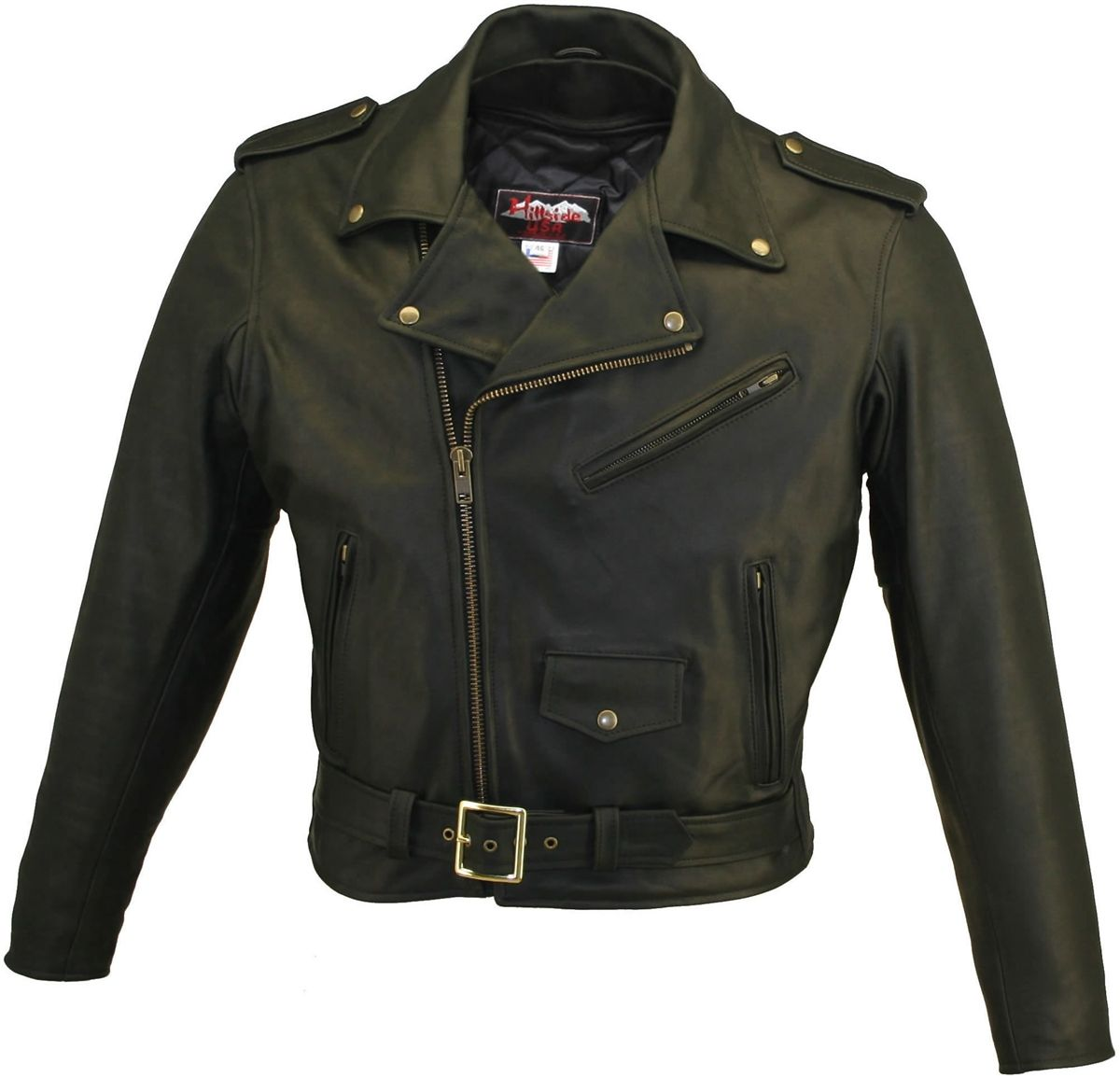 Men's Basic Biker Leather Jackets